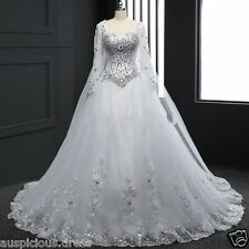 New Wedding Dress Lace White/Ivory Bridal Gown Custom Size 6 8 10 12 14 16+18+++