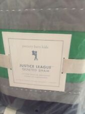 New 1 Pottery Barn Kids Justice League Quilted Euro shams