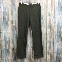 Vans Authentic Chino Stretch Modern Fit Men's 28 X 30 Green Cotton Blend Pants