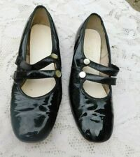 Vintage 1960's Double Strap Ladies Jumping Jack Parties Mary Jane Patent Leather