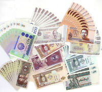 100 Pcs Banknotes 10 Different World Paper Money UNC Collection Gift Study
