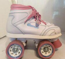 Chicago Roller Skates Childrens Youth Size 3 White Pink Blue Girls Skates
