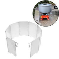 Picnic Wind Guard Cookware Cookout Stove Outdoor Supplies Foldable Wind Sh IJ