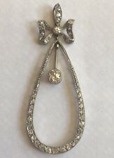 Antique Platinum 18ct Gold Diamond  Pendant