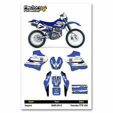 2000-2012 YAMAHA TTR 250 Dirt Bike Graphics kit Impact Decal by  Enjoy MFG