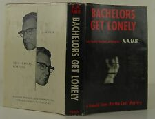 ERLE STANLEY GARDNER (A.A. FAIR) Bachelors Get Lonely FIRST INSCRIBED EDITION