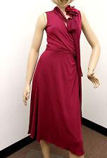 NEW Authentic Gucci Runway Dress w/ Flower Scarf, Fuchsia, M 277881 6235