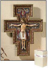 San Damiano Wall Crucifix 10 inches high NIB by Milagros SKU PD566