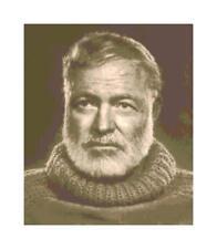 Sepia Writer Ernest Hemingway DIGITAL Counted Cross Stitch Pattern Needlepoint