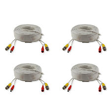 4x 30m 100ft Security BNC Video Power Extend Connector Cables Wire Accessory