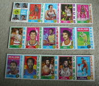 Rare Lot of 3 Uncut Sheet Panels 1974-75 Topps Basketball Cards with Stars #3