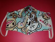 tokidoki Light Blue Adult Washable Reusable Face Cover Face Mask-H