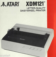 XDM-121 Owners Manual New for Atari Printer