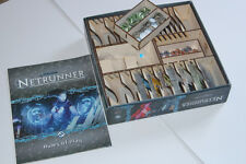 EXPANDABLE Game Box Organiser Laser cut CCG eg Netrunner, LOTR Card Game etc