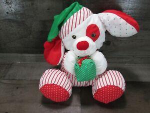 Vintage 90s Christmas Puppy Dog Present Puffalump Plush Stuffed Fisher Price