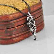 Amour Infini Tibet argent acier inoxydable noir crâne collier chaîne pendentif