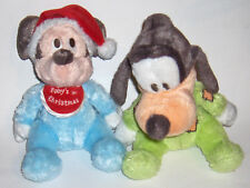 "Walt Disney's ***Mickey Mouse**  & ""Goofy"" - Baby Crib Toys - Disneyland Plush"