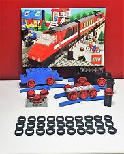 LEGO Traction Tyre, locomotive, train, rail - 4,5V and 12V - 30 pieces, black
