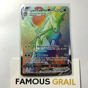 Ice Rider Calyrex VMAX 202/198 Rainbow Secret Rare - Pokemon Chilling Reign MINT