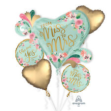 Engagement She Said Yes Mint To Be Bouquet Foil Balloons Wedding Hen Party Event