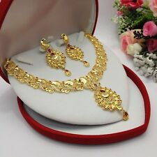 Indian Bridal Jewellery Ethnic Wedding 22ct Gold Plated Necklace Set Bridal Wear