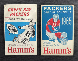 1964 & 1965 Green Bay Packers Official Schedules. Super Bowl.