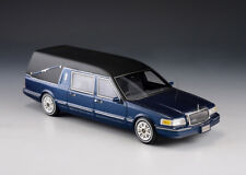 1/43 GLM Lincoln Town car S&S Hearse Blue Metallic GLM43102702