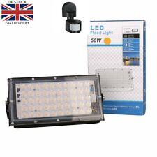 LED Flood Light Outdoor Mains Power With Motion Sensor Security Light
