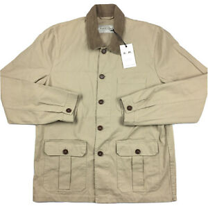 RM Williams Mens Drovers Chore Jacket Beige Brown Size XXL NWT
