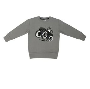 Member's Mark Boys' Long Sleeve Pullover Monster Truck Flip-Sequin Sweatshirt