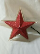 Vintage 1940s Noma Red and White Metal Christmas Tree Topper Lite Iob