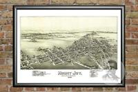 Old Map of Mount Joy, PA from 1894 - Vintage Pennsylvania Art, Historic Decor