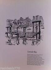Vintage Original Cedric Emanuel Print 1970 - Lavender Bay