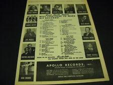 ILLINOIS JACQUET Charlie Barnet CONNEE BOSWELL King Houdini original 1947 PROMO