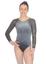 Grey Paris Long Sleeve Gymnastics Leotard Size 34 (13-14 years)