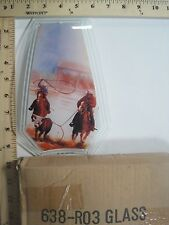 FREE US SHIPPING ok touch lamp replacement glass panel Cowboy Bull Rodeo 638-RO3