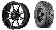 "Moto Metal MO970 20x10 Wheels Mastercraft 33"" MT Tires Package Jeep Wrangler JK"