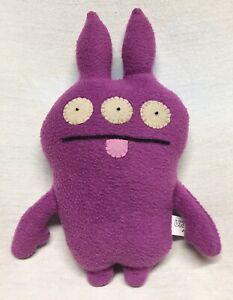 """Uglydoll Jrumpy 8"""" Plush Stuffed Animal Purple 2010"""