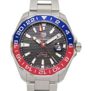 TAG HEUER Aqua Racer Caliber 7 GMT Wrist Watch WAY201F.BA0927 Automatic SS Used