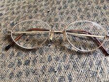 Vintage Aeroline Reading Eyeglasses Gold Tone Frame Made in France Oval Lens