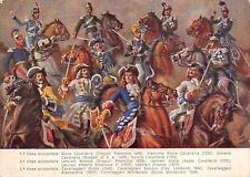 4382) CAVALLERIA, UNIFORMI STORICHE 1690/1860.