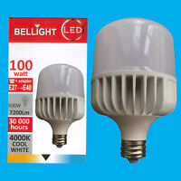 1x 100W (=500W) T140 LED Light Bulb 4000K Cool White Edison Screw ES E27/GES E40