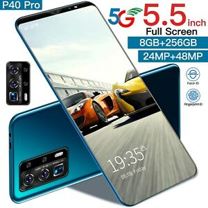 Unlocked 5G New Smartphones Android 10.0 128G-512G 24MP+48MP 4800mAh Face ID