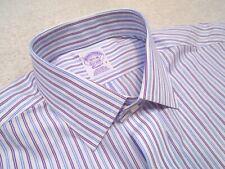 Brooks Brothers Purple & Blue Stripe French Cuff Dress Shirt NWT 15.5 x 36 $92