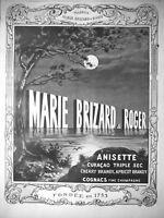 PUBLICITÉ PRESSE 1914 MARIE BRIZARD & ROGER ANISETTE CURAÇAO TRIPLE SEC COGNAC
