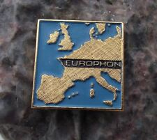 Antique Europhon Transistor Record Player Audio Equipment Company Pin Badge