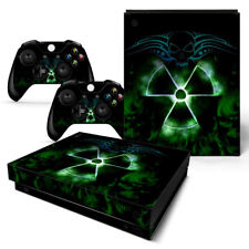 Xbox One X Skin Design Foils Sticker Screen Protector Set - Nuclear 2 Motif