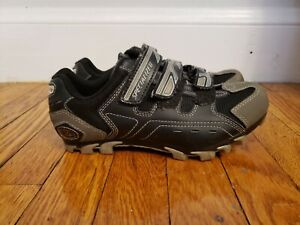 Specialized Mountain Bike Shoes Size 38 US 6 Black Gray
