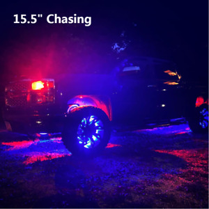 "Sando 15.5"" Chasing Flow Series Dream Color Wheel Well Rim Tire Lights x4PCS Set"