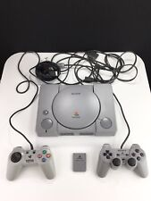 Sony PlayStation one original Gray Console (SCPH-9001) with 2 controllers + card